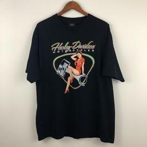 0ce714c6 Harley Davidson Retro Pin-Up Graphic T-Shirt
